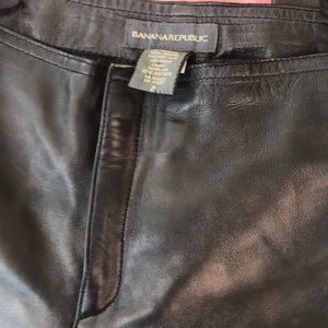 Banana Republic Genuine Leather smooth front pants